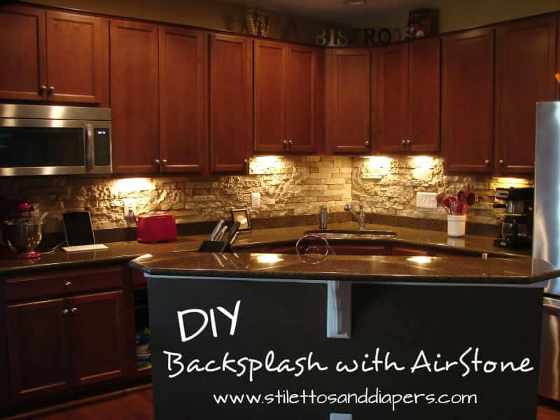 Airstone Backsplash DIY