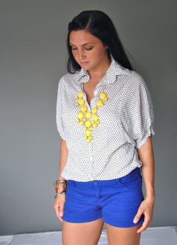 Polka Dots + Bubble Necklace (A Fashion Post)