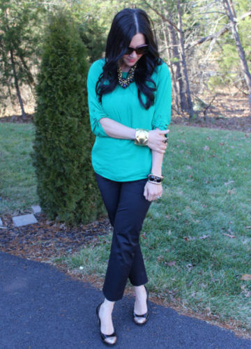 Emerald + Gold {a fashion post}