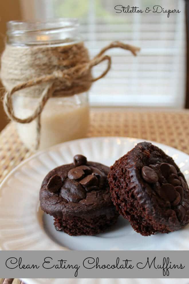 Clean chocolate muffins, low fat chocolate muffins, vitatop muffin recipe, gluten free chocolate muffins