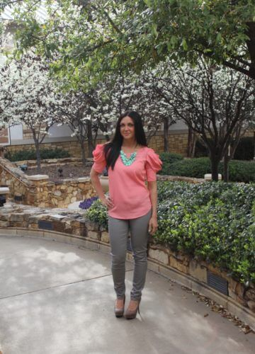 Pink Petals and Mint {A Fashion Post}