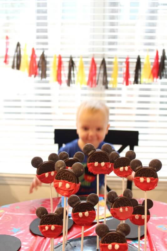 Oh Two-dles Mickey Mouse Birthday Party via Stilettos and Diapers