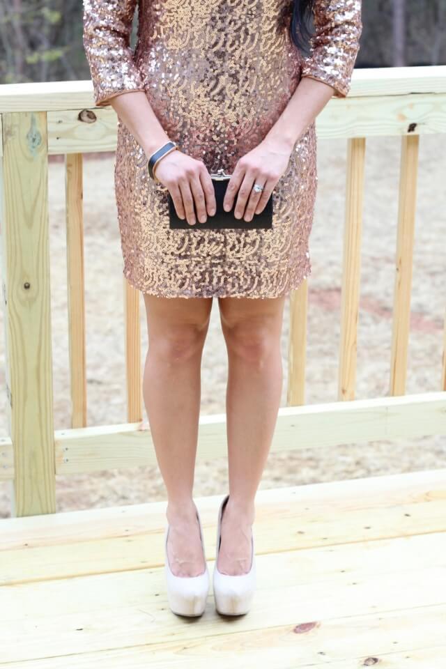 Gold Glitter Dress, Glitter dress