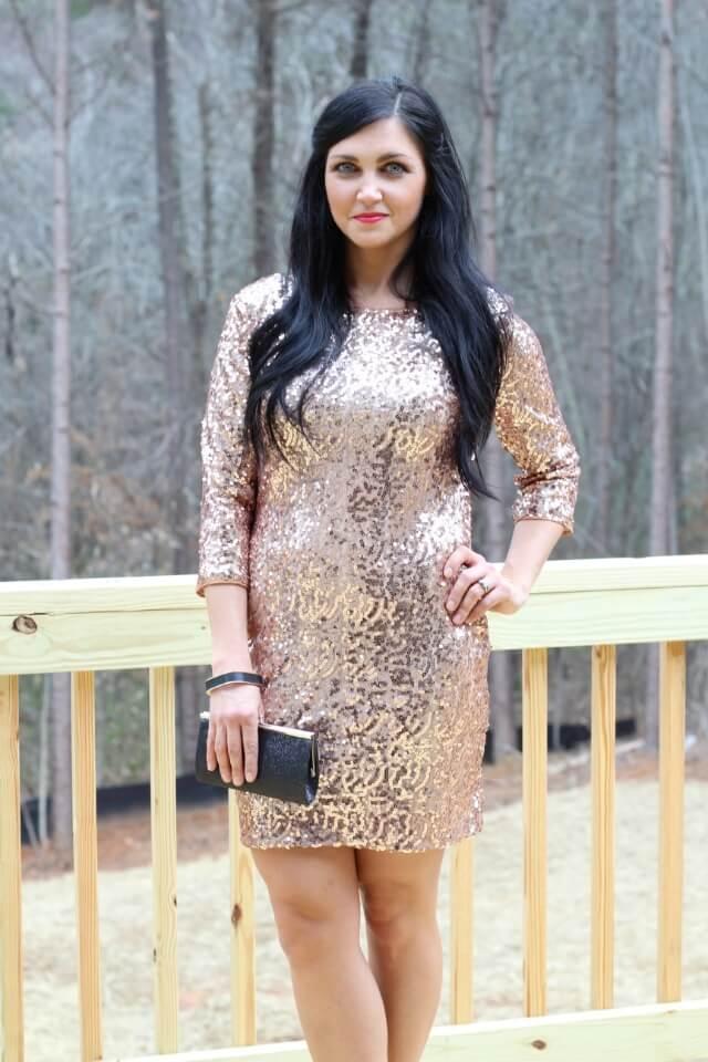 Glitter Dress, Gold Glitter Dress, sequin dress