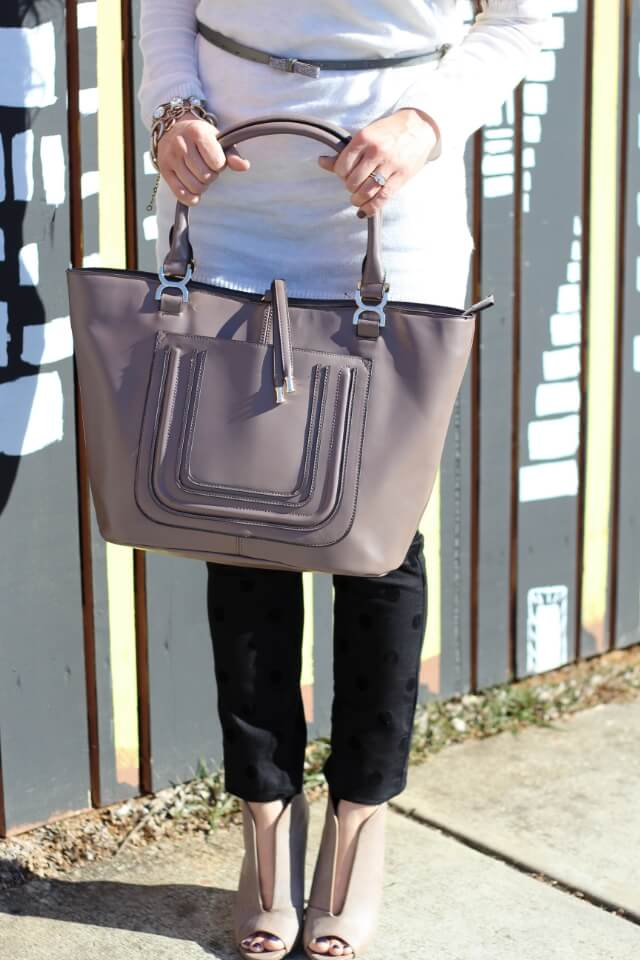 Stilettos and Diapers: Taupe Bag