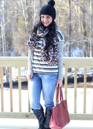 Stripes and Leopard {Fashion}