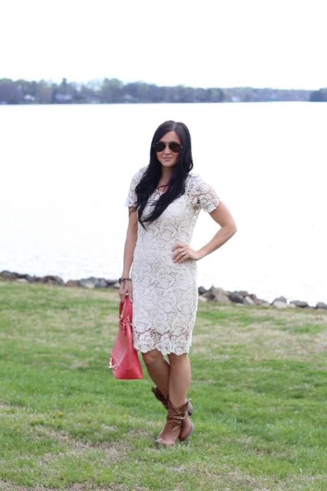 Stilettos and Diapers: Lace dress, cowboy boots