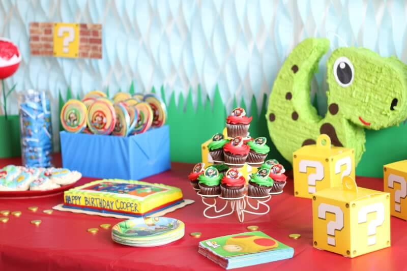 Stilettos and Diapers: Super Mario Birthday Party