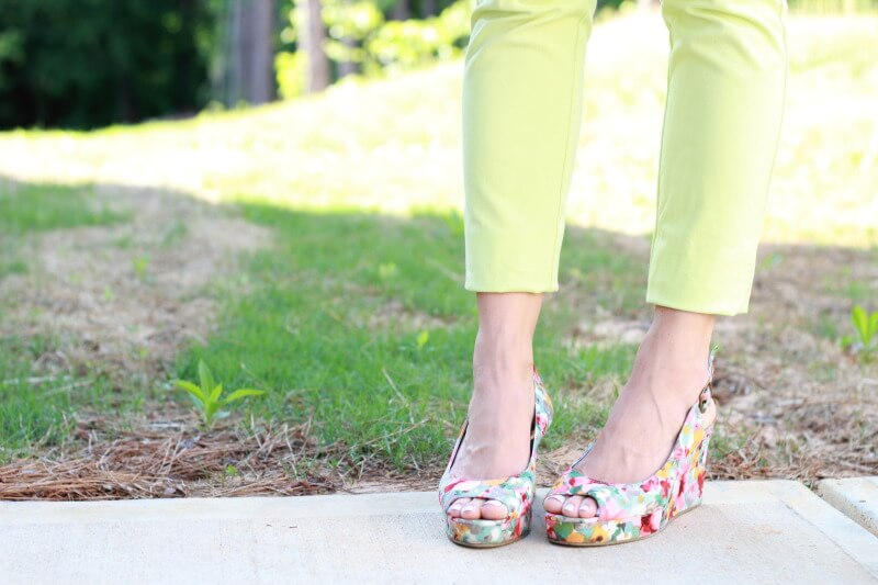 Stilettos and Diapers: Candy Shop Fashion with floral wedges