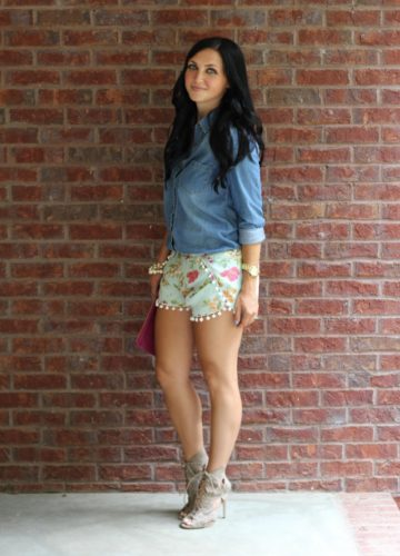 Poms and Florals {Fashion}