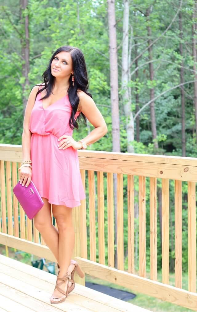 Stilettos and Diapers: Pink Dress, nude heels