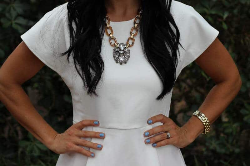 Stilettos and Diapers: Front Row Shop Peplum, Molly Suzanne Necklace
