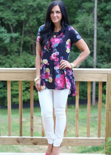 Floral and White {Fashion}