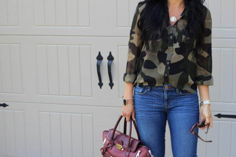 Camo and Burgundy: Stilettos and Diapers