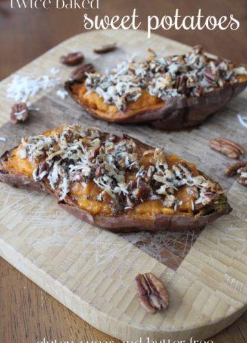 Recipe // Twice Baked Sweet Potatoes