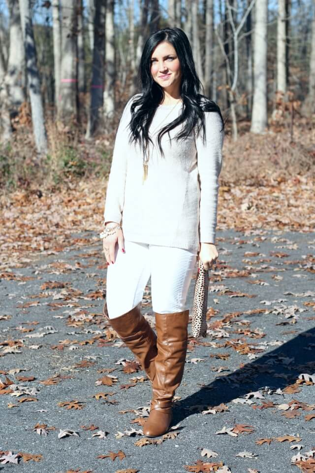 How to wear winter white: Stilettos and Diapers