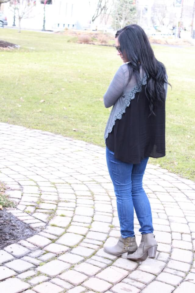 Molly Suzanne Lace Top, Booties via Stilettos and Diapers