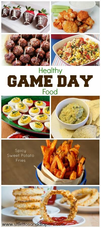 Healthy Game Day Food via Stilettos and Diapers