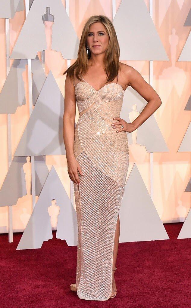 Jennifer Anniston Versace Oscars