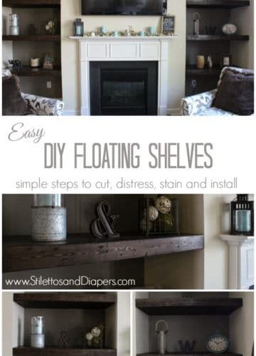 DIY Built-in Floating Shelves