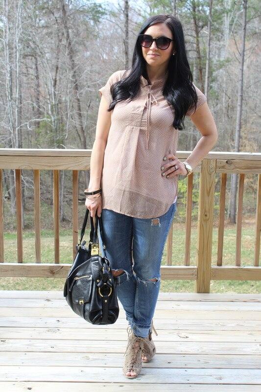 Stilettos and Diapers: Pleione Top, Neutral Heels