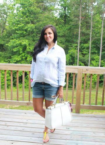 Fashion || Hues of Blues: 25 Weeks Pregnant