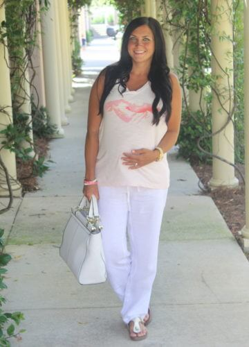 Fashion || Lobster, Linen and 31 Weeks Pregnant