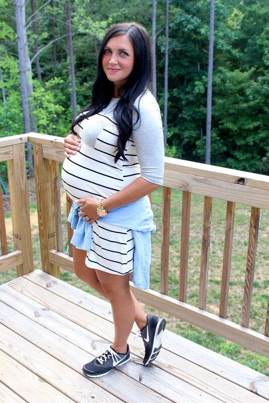 Pink Blush Maternity Dress, Nike Shoes