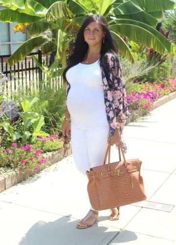 Fashion || Whites and Florals: 33 Weeks Pregnant