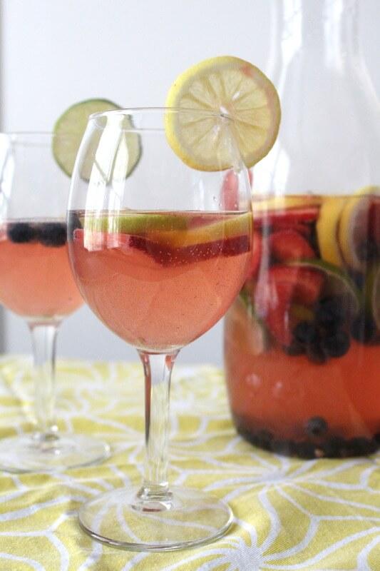 Summer Mocktail Sangria Recipe