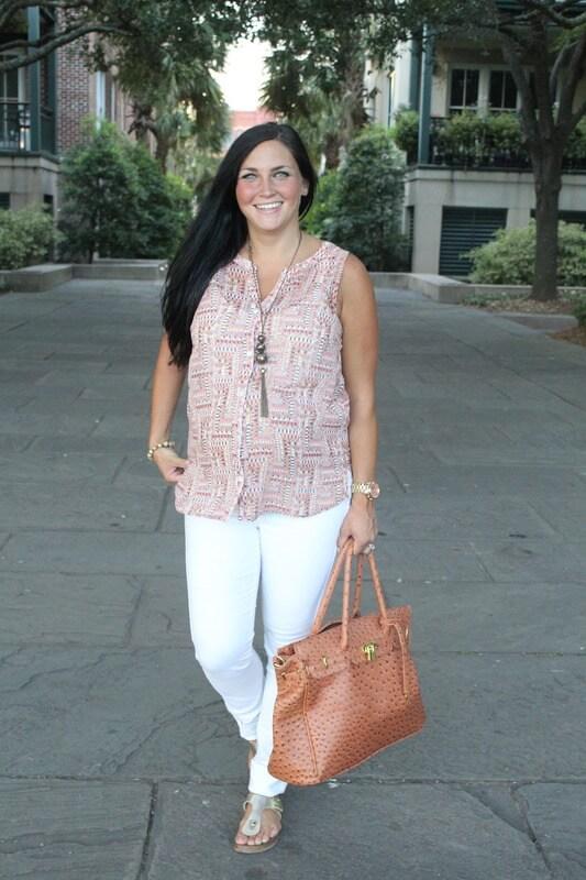 34 weeks pregnant, J.JIll pattern blouse