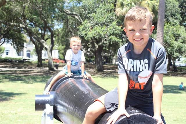 Charleston Whitepoint Garden, Free with Kids