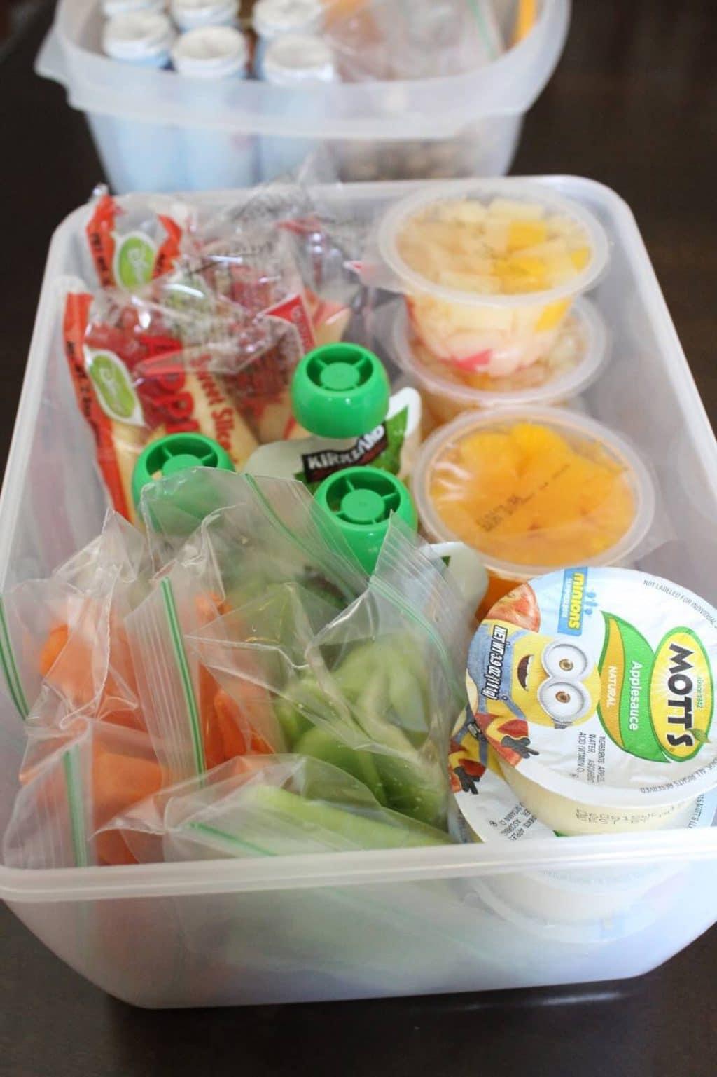 School Lunch fruit and veggies