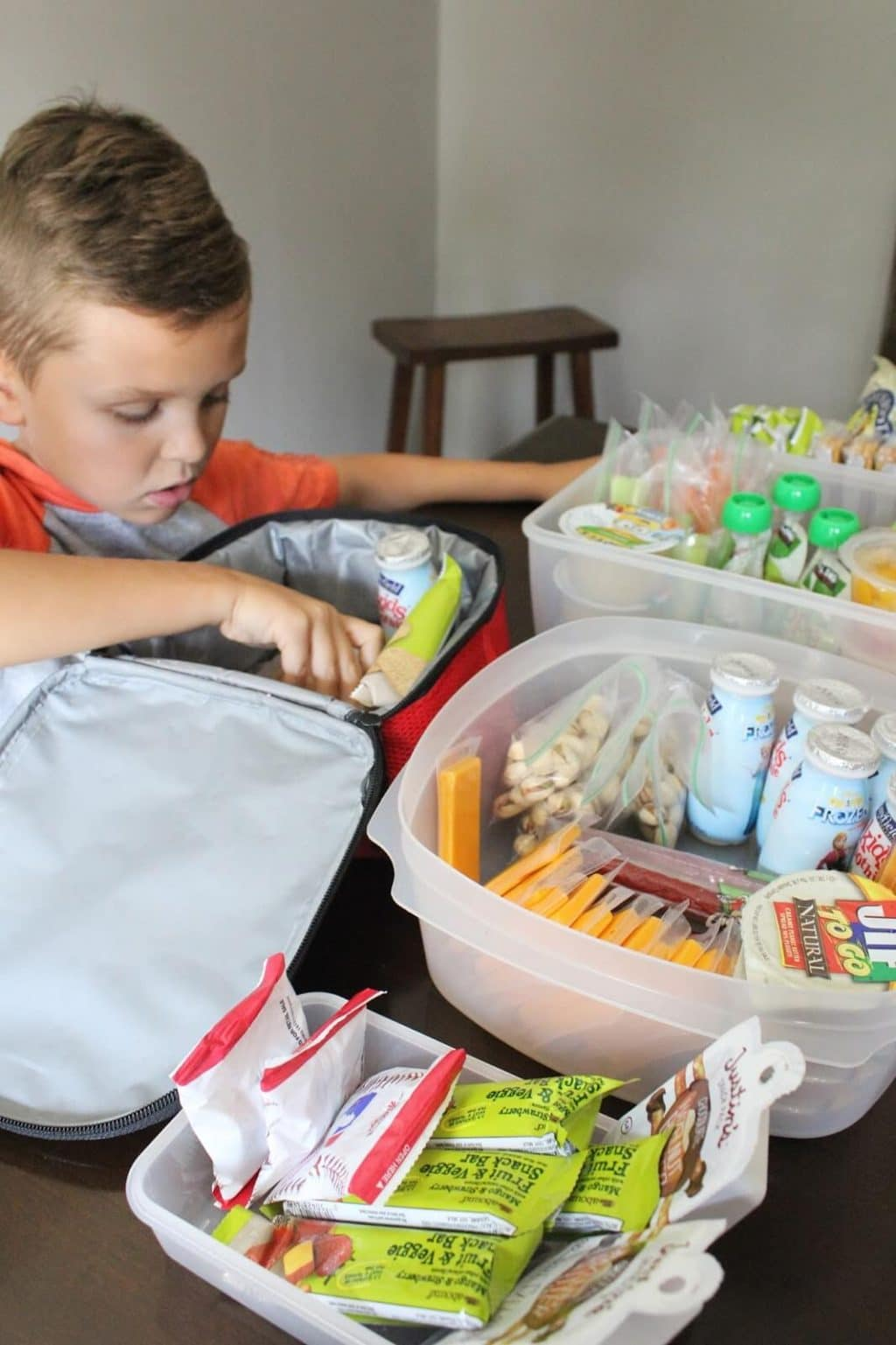 Child Packed School Lunches
