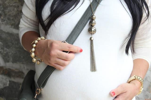 tassel necklace, crossbody bag