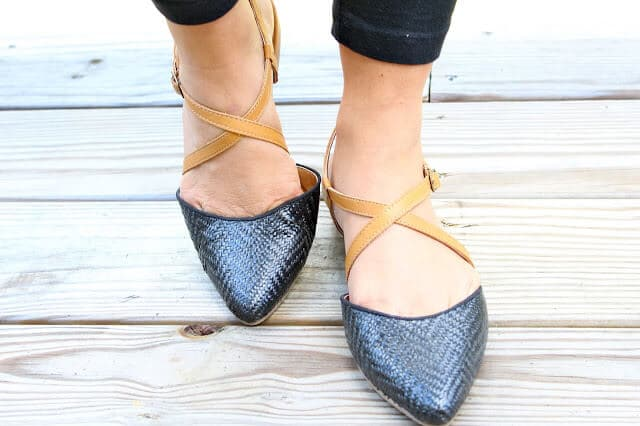 Black and Tan Flats: Molly at Stilettos and Diapers