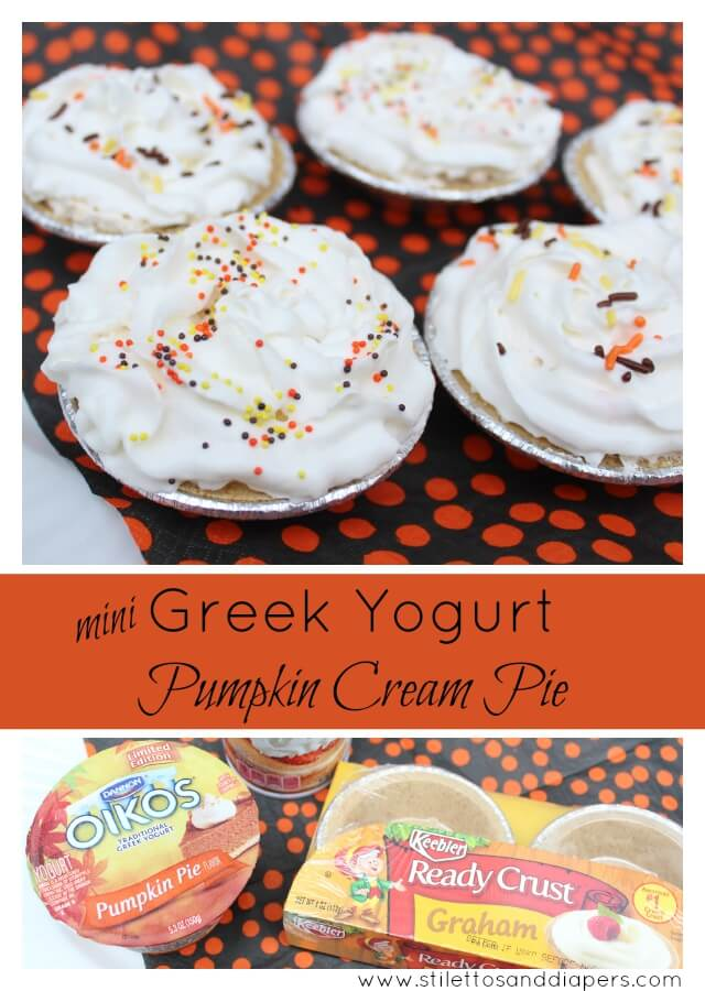#EffortlessPies: Greek Yogurt Pumpkin Cream Pie