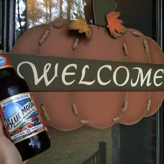 fall decoration, pumpkin beer, front door fall