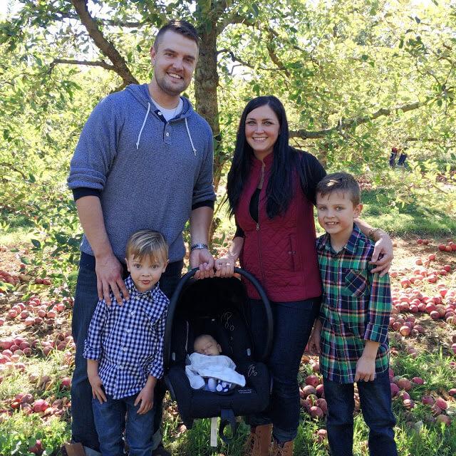 Family Apple Picking