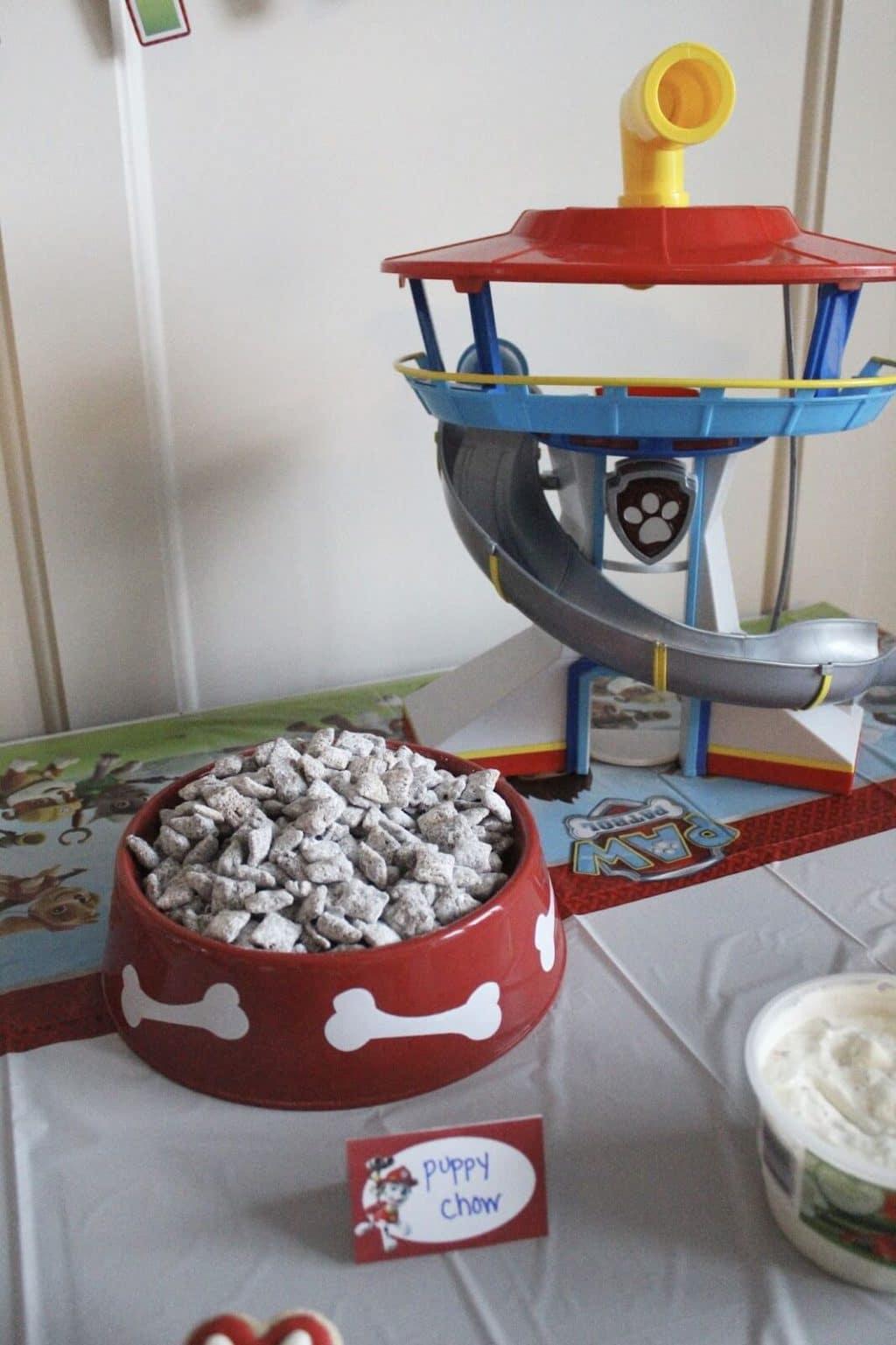 Paw Patrol Birthday Party Puppy Chow Food