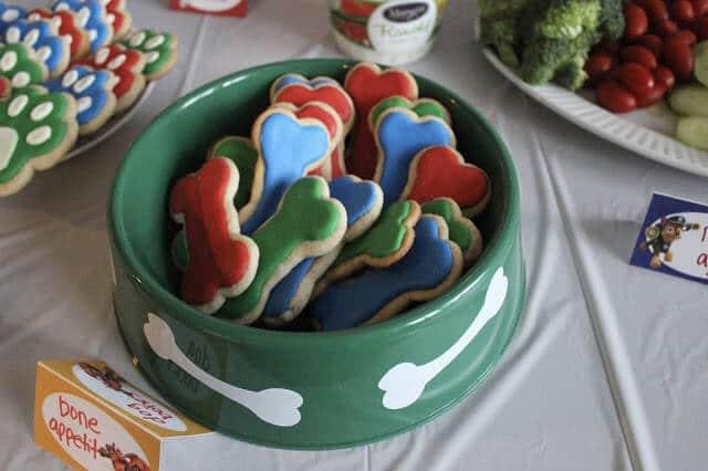 Paw Patrol Birthday Party food