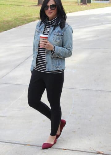 Fashion || Red Suede and Stripes