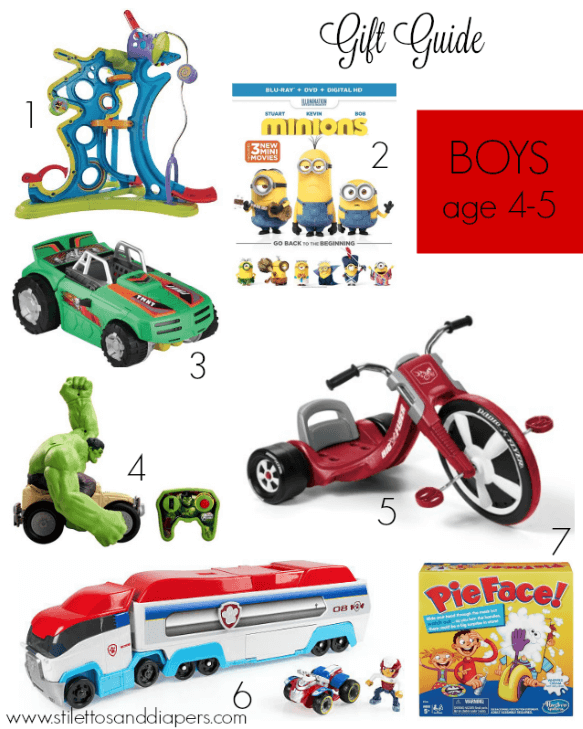 Gift Guide: Boys age 4-5 via Stilettos and Diapers