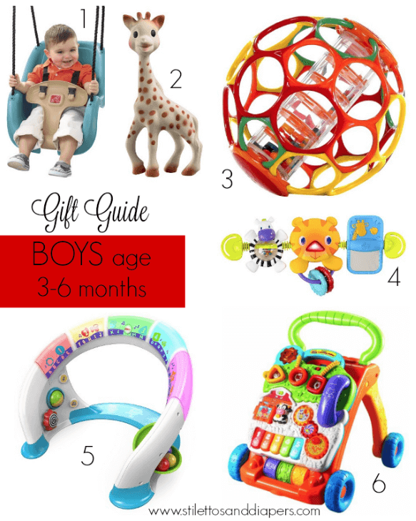 Gift Guide: Babies age 3-6 months via Stilettos and Diapers