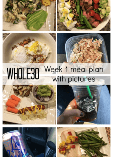 Whole 30: Week 1 Meal Plan