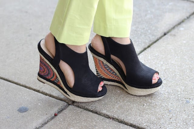 colorful spring wedges