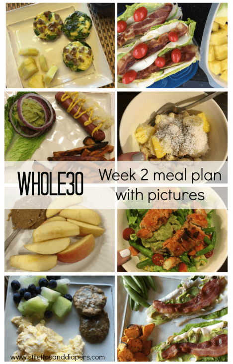 Whole 30, week 2 meal plan and progress