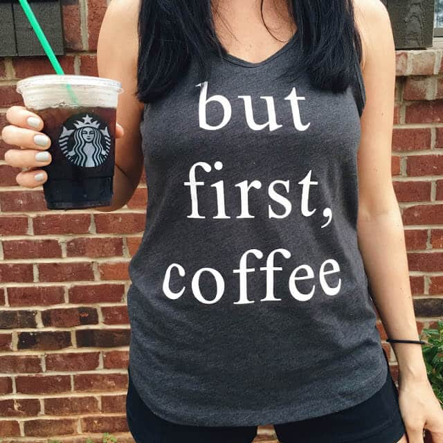 But first, coffee tank