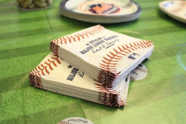 Baseball party napkins