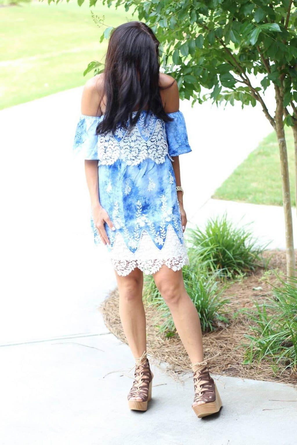 Vacation dress, crochet, blue, amazon prime